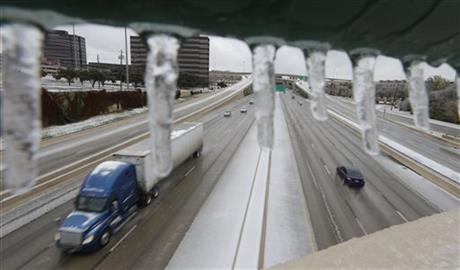 ICY STORM SLAMS SOUTHWEST, SHUTS DOWN NORTH TEXAS