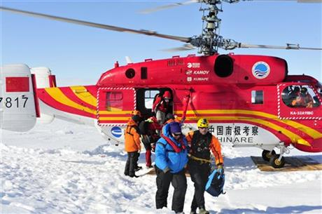 PASSENGERS RESCUED OFF SHIP STUCK IN ANTARCTIC ICE