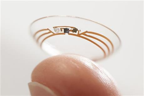 GOOGLE DEVELOPS CONTACT LENS GLUCOSE MONITOR