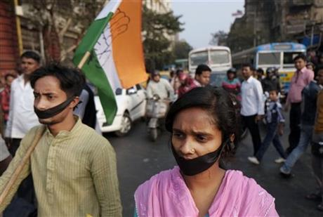 INDIAN POLITICAL BRAWLING SHOWS RAPE A VOTER ISSUE