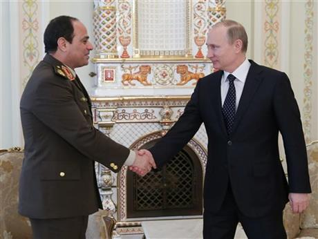 PUTIN BACKS EGYPT ARMY CHIEF'S RUN FOR PRESIDENT