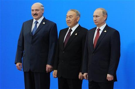 Russia, Belarus and Kazakhstan set up new alliance