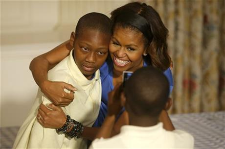 First lady says she'll fight for lunch standards