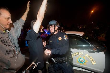California protesters march for 4th straight night