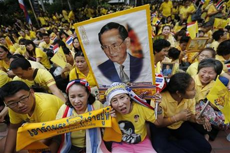 Thai king Bhumibol Adulyadej turns 87, but absent from celebrations