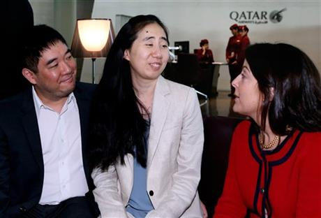 American couple cleared in daughter's death leaves Qatar