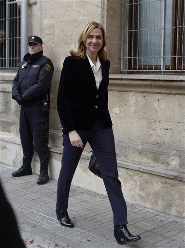Spain: Princess Cristina to be tried for fraud