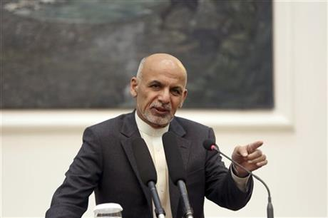 Ashraf Ghani Afghan president to overhaul security