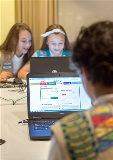 Girls Scouts byting into digital for cookie sales
