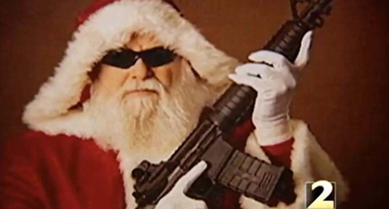 Naughty or nice: Georgia gun range invites kids to pose for pictures with gun-toting Santa Claus