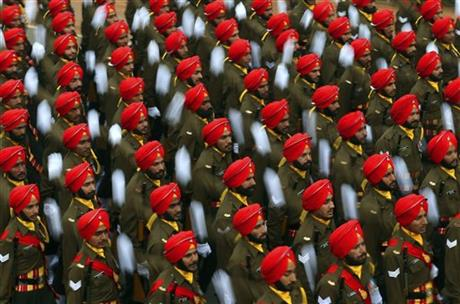 Image of Asia: Rehearsing for India's Republic Day parade