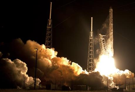 SpaceX launches for NASA, no luck with rocket landing at sea