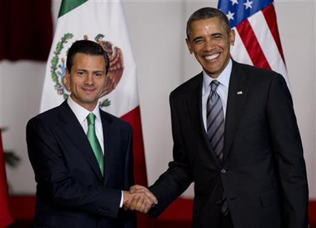 Obama seeks help of Mexico's Pena Nieto on Cuba, immigration
