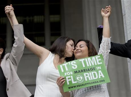 After Miami's kickoff, gays marry across Florida