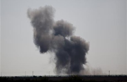 The Latest: Explosions on Egypt side of Gaza border