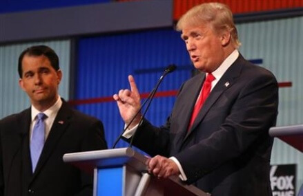 FACT CHECK: GOP candidates veer from the truth in 1st debate