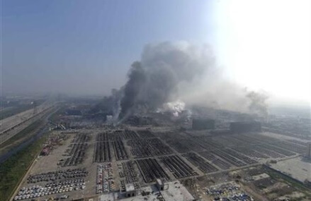 At least 44 dead as huge warehouse blasts hit Chinese port
