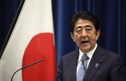 Japanese leader Abe stops short of apology for World War II