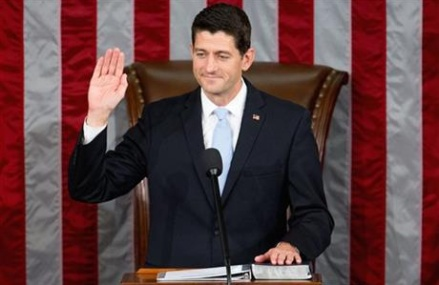 House GOP, eager to mend wounds, elects Ryan as new speaker