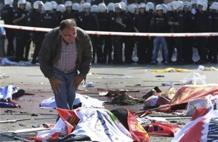 Turkish PM says deadly attacks likely were suicide bombings