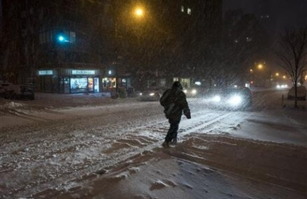 Millions awake to more snow as blizzard barrels to the east
