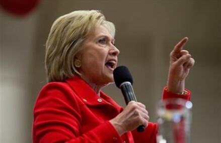 In final Iowa blitz, an outraged Clinton channels Sanders