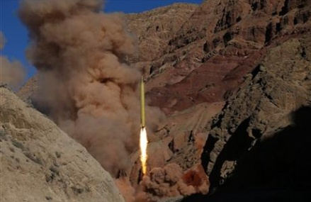 Iran fires 2 missiles marked with 'Israel must be wiped out