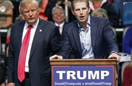 Officials: Threatening letter sent to Trump son's NYC home