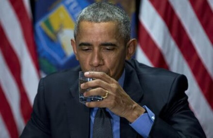 Obama drinks filtered city water in Flint to show it's safe