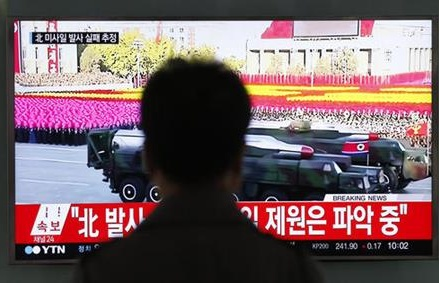 South Korea says North Korea missile launch likely failed