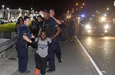 Black Lives Matter activist arrested at Baton Rouge protest