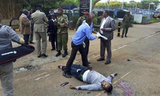 Man shot dead after stabbing guard at US Embassy in Kenya