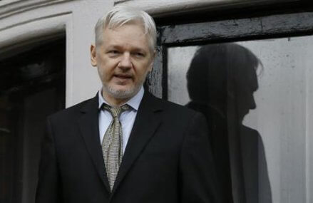 Julian Assangequestioned at Ecuadorean Embassy in London