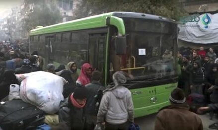 Syrian TV, rebels trade blame amid halted Aleppo evacuation