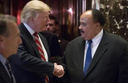 Trump, in flap with civil rights icon, meets with MLK's son