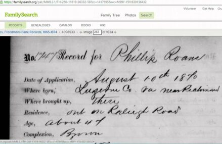 Genealogy Adventures – Freedman's Bank Records