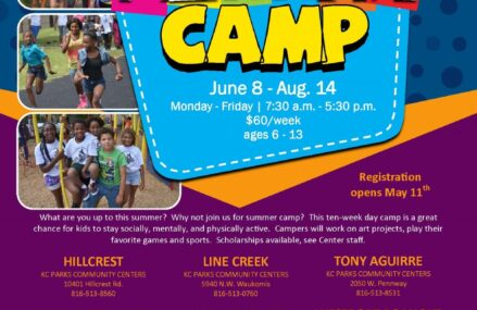 Summer Camp 2020 June 8 – Aug. 14 Monday – Friday | 7:30 a.m. – 5:30 p.m. $60/week ages 6 – 13