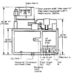 Utilities and Dimension of PE 4400 magnetron sputtering-Back Side-High