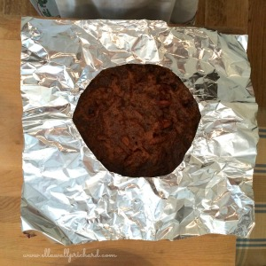 pecan pie with foil