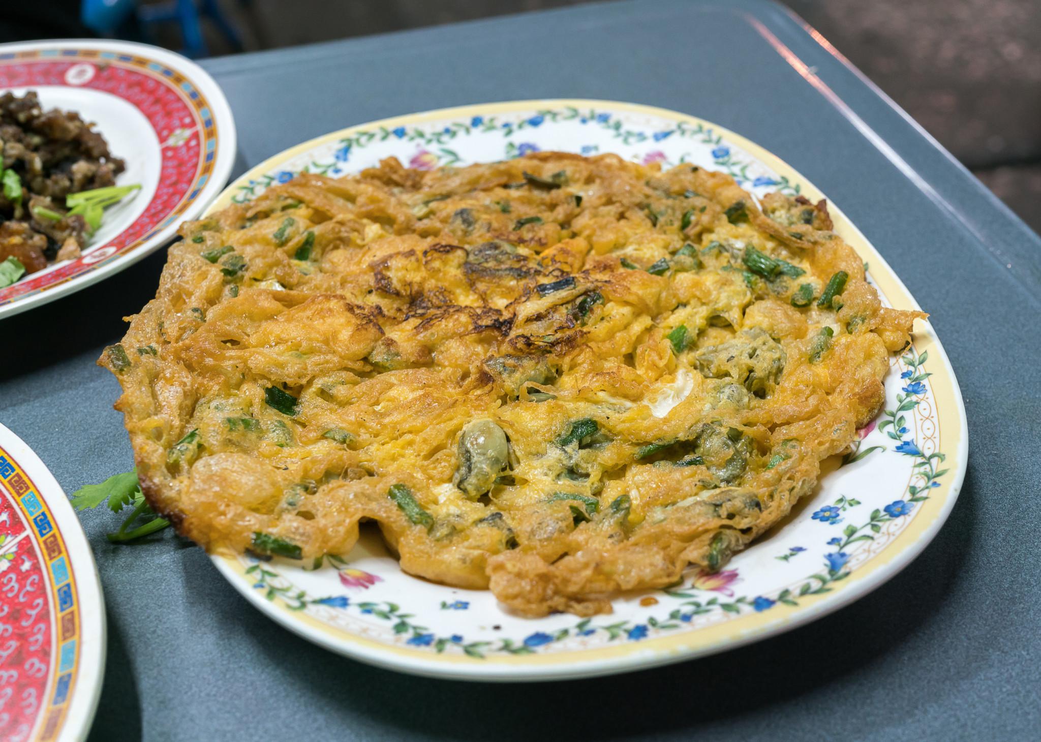 fresh oyster omelette