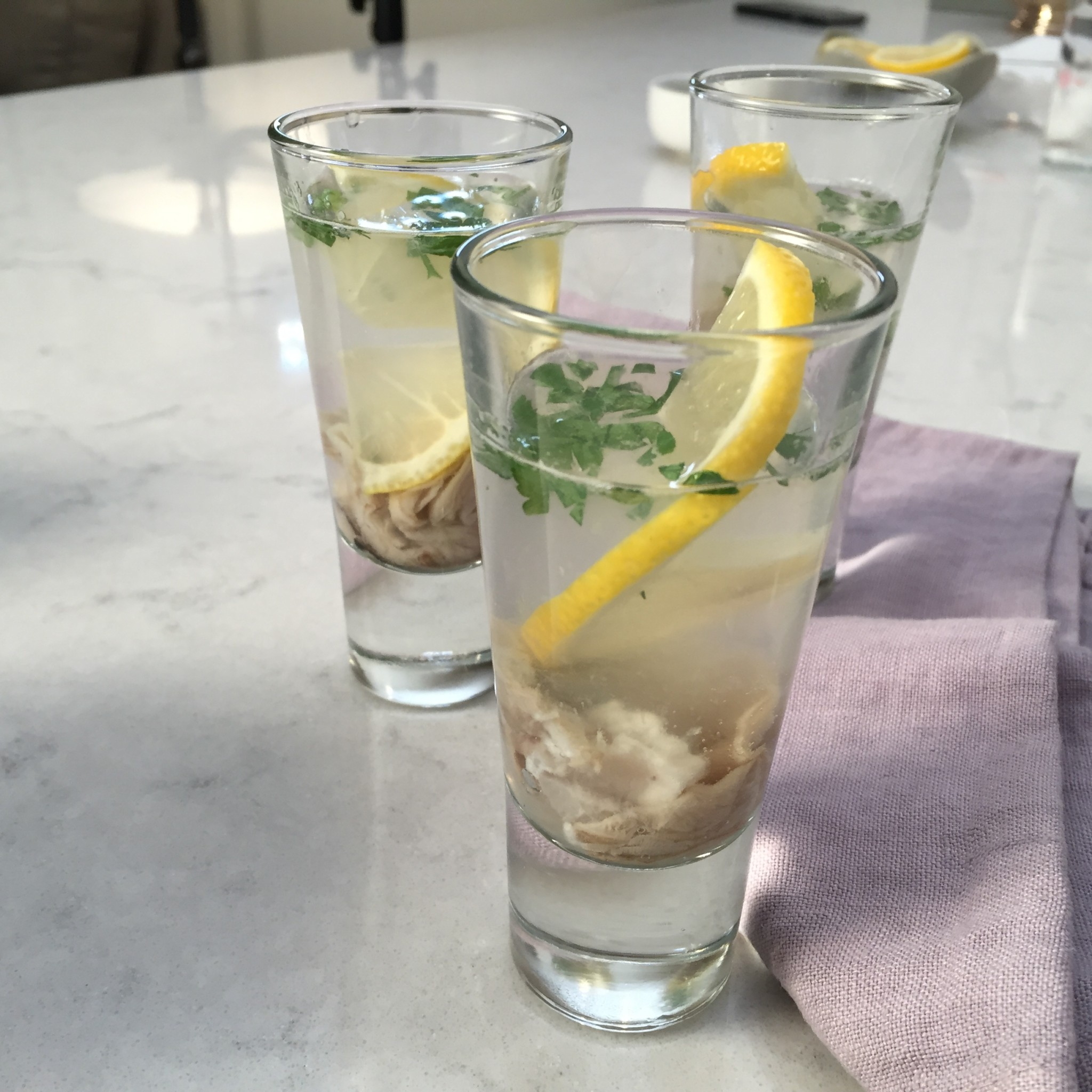 Gin and Tonic Oyster Shooters recipe