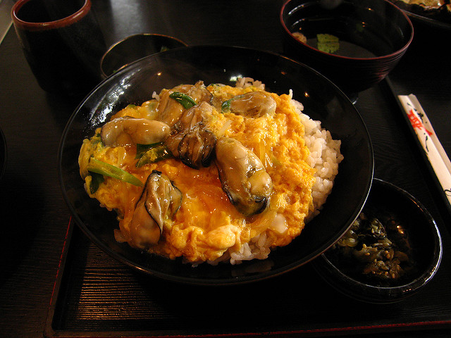 oyster rice bowl oyster donburi