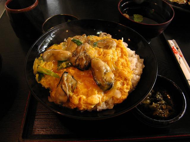 oyster rice bowl donburi