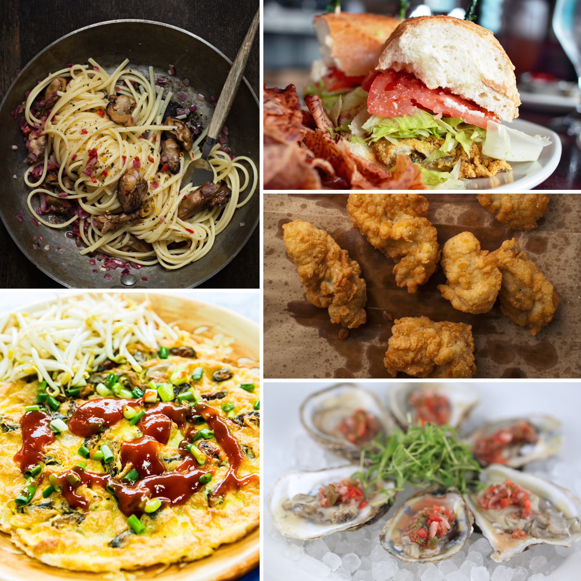 oyster recipes, cooked oysters