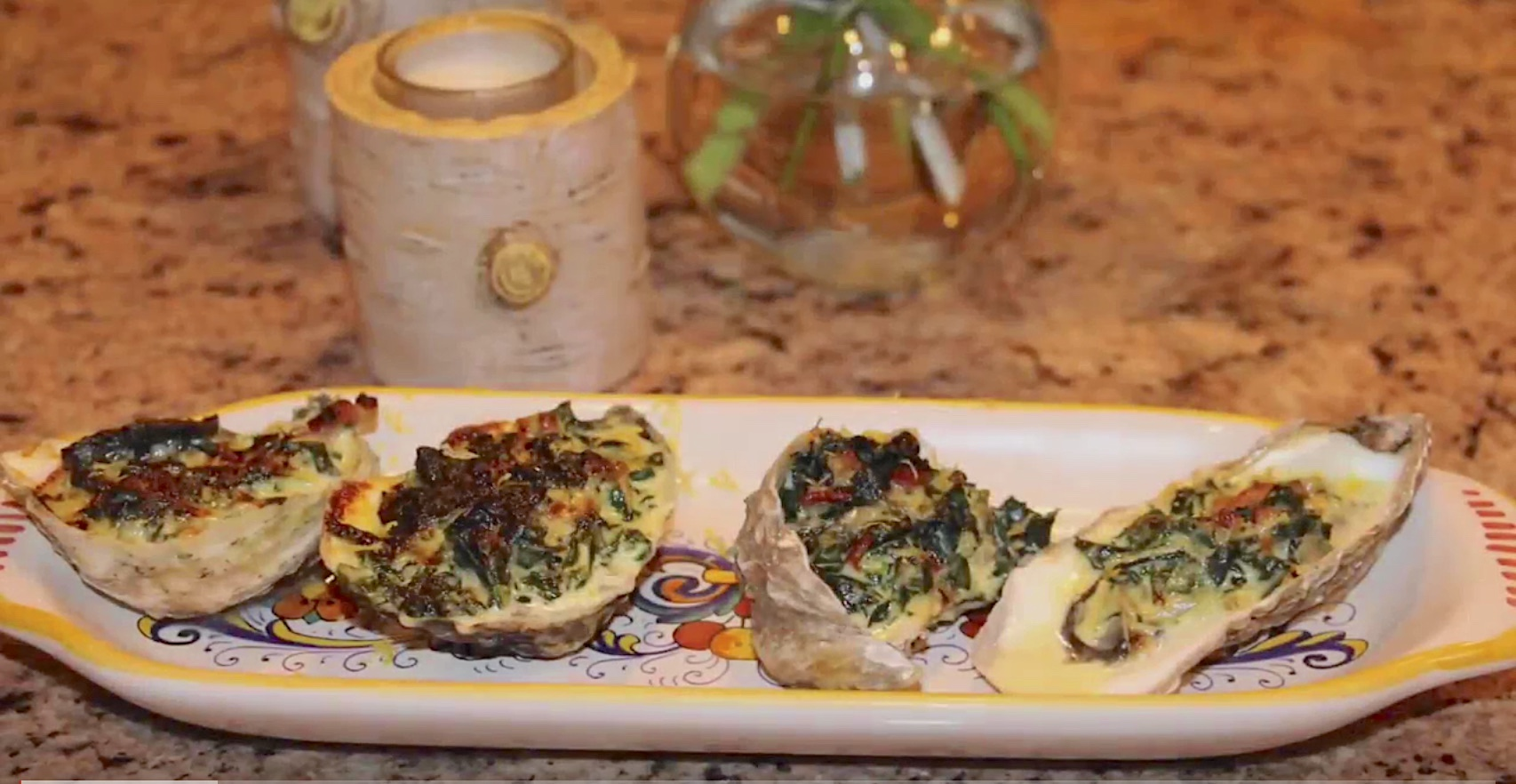 Michele Ragussis's Oysters Rockefeller with Chard and Pancetta