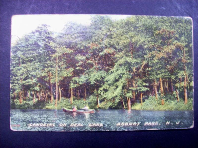 1910 Canoeing on Deal Lake Asbury