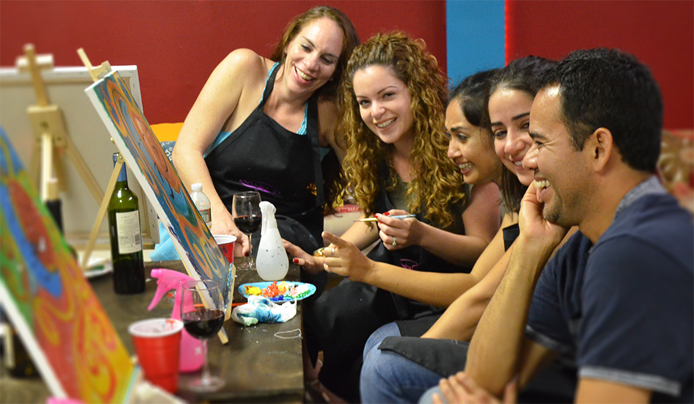 Paint and Hang Offers awesome BYOB Wine party