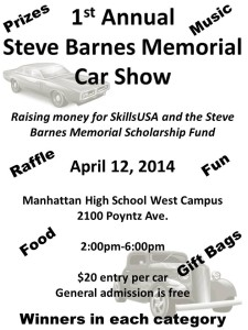 Steve Barnes Memorial Car and Truck Show  @ Manhattan High School West  | Manhattan | Kansas | United States