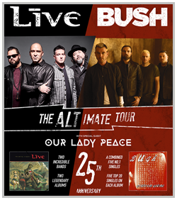 Bush, Live & Our Lady Peace @ Starlight Theater