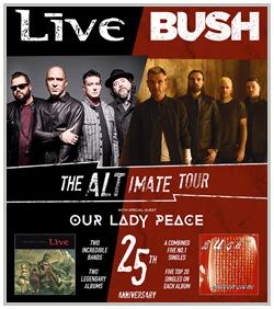 Bush, Live & Our Lady Peace @ Hartman Arena